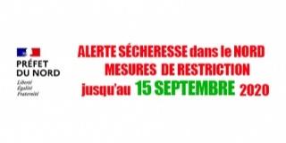 Arrêté Préfectoral sécheresse 30 juillet 2020